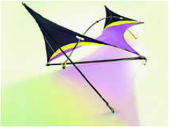 Guildworks - Synergy Deca Zero Wind - Four Line Indoor Kite